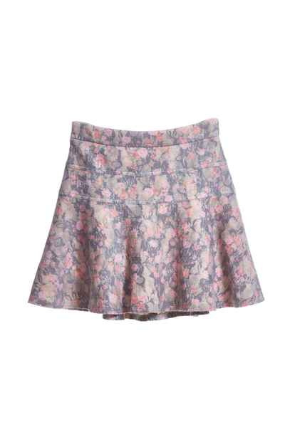 Elegant floral short skirt.