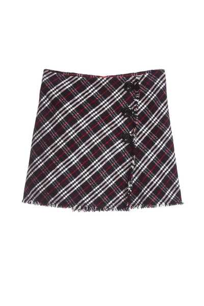 Vintage plaid classic design short skirt