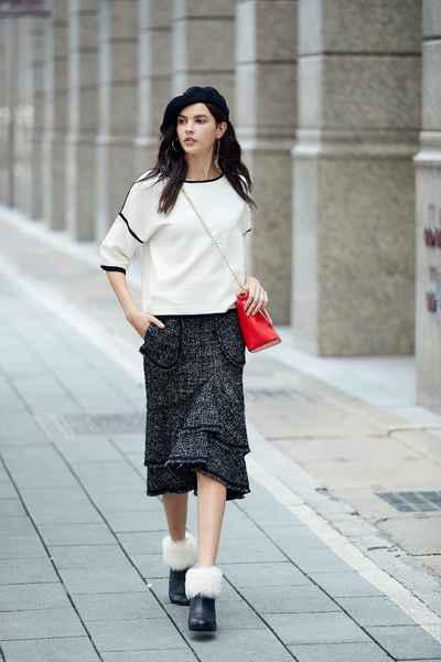 Elegant classic design long skirt