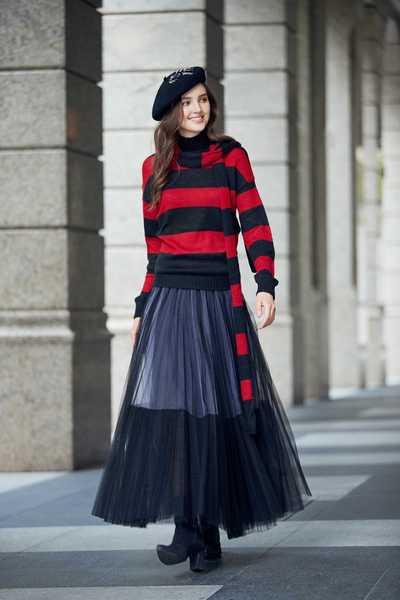 Elegant classic long skirt