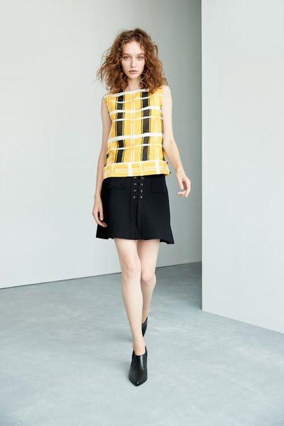 Cross strap design skirt