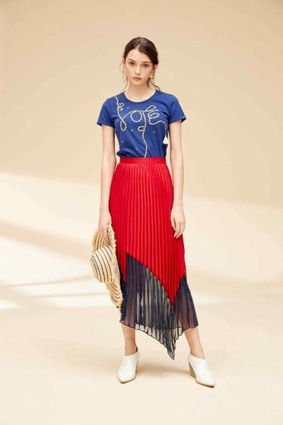 Colorblock fashion dress