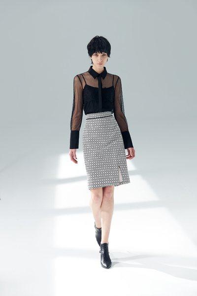 Long split skirt with full totem print