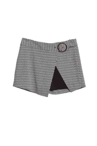 Houndstooth skirt pants