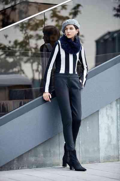 Cozy simple slim long pants