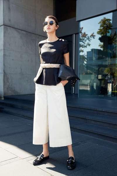 Temperament fashion wide-leg pants