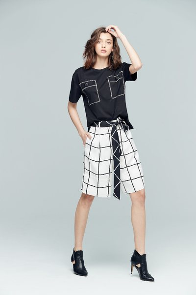 Simplicity plaid classic shorts