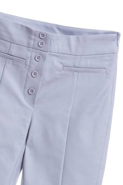 Plain slim pants