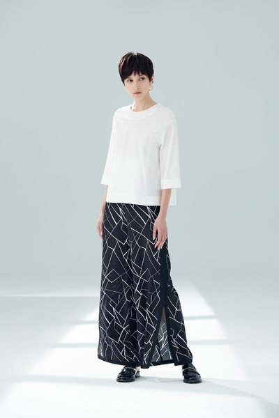 Elegant split long pants