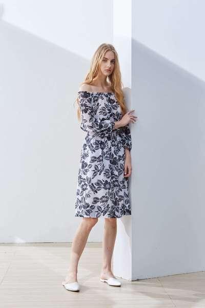 Elegant flower fashion dress