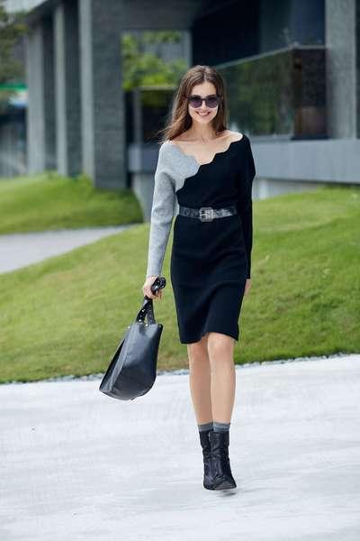 wavy pattern design dress