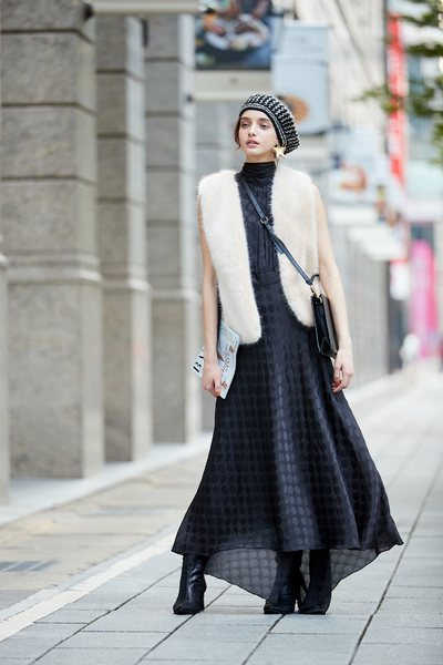 Luxury low profile dot dress