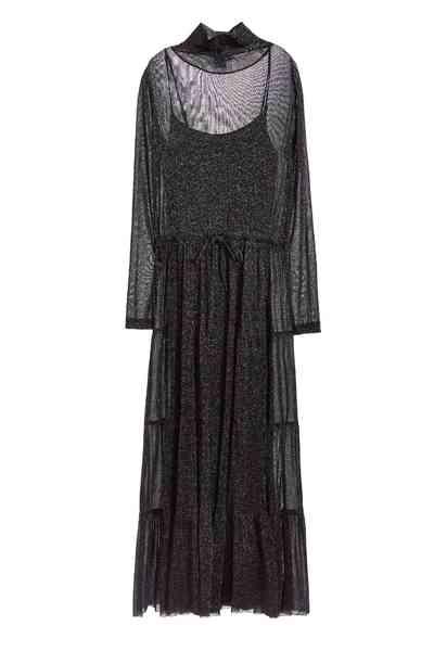 Grace high collar classic dress