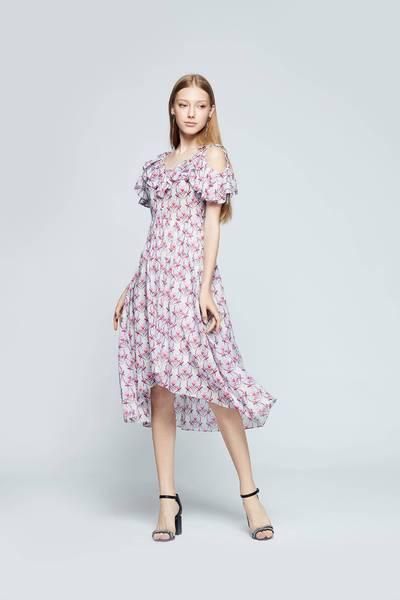 Elegant floral fashion dress