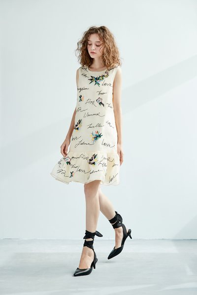 Childlike design sleeveless dress