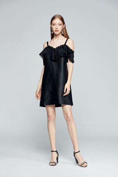 Ruffled classic dress