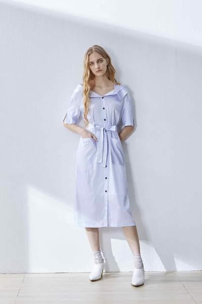 Off-the-shoulder strap design dress
