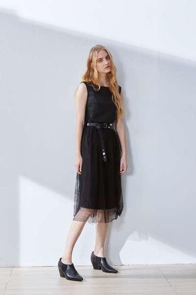 Elegant stitching classic dress