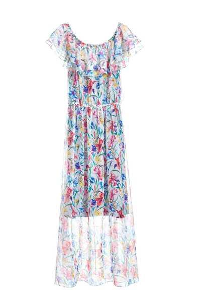 Translucent floral design dress