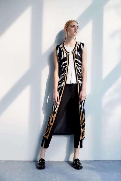 Zebra stripe classic vest