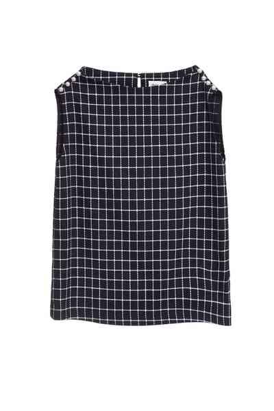 Navy blue England checkered vest