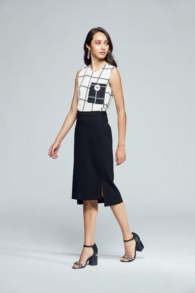 Simplicity plaid classic vest