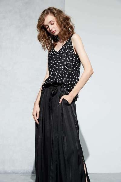 Full polka dots fashion vest