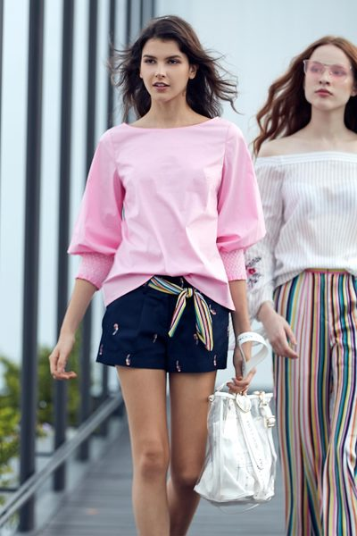 Macaron pink top