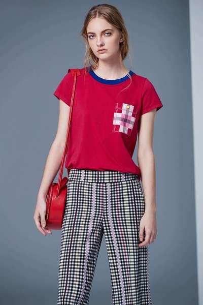 Pocket Accessories Classic Cotton Short Sleeve Tshirt