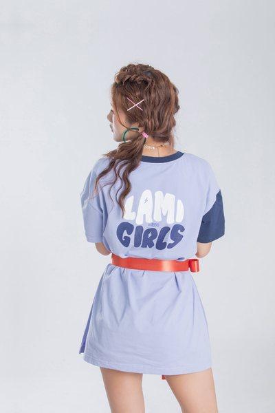 iRoo x Lamigirls color matching cotton short sleeve Tshirt
