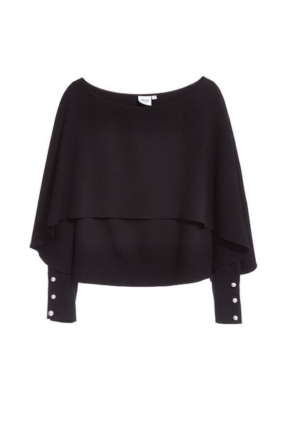 Big round neck long-sleeved top