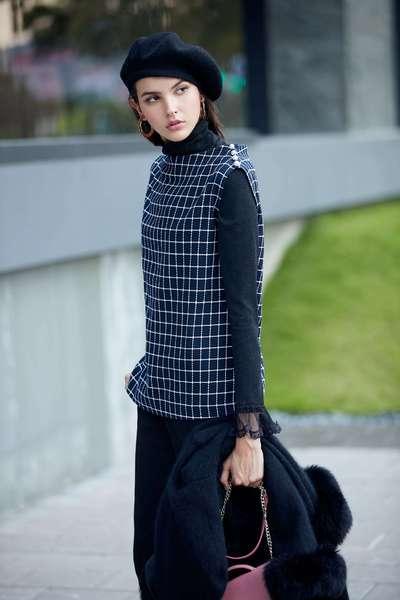 lace spliced blouse