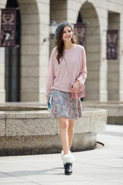 Elegant classic long-sleeved top