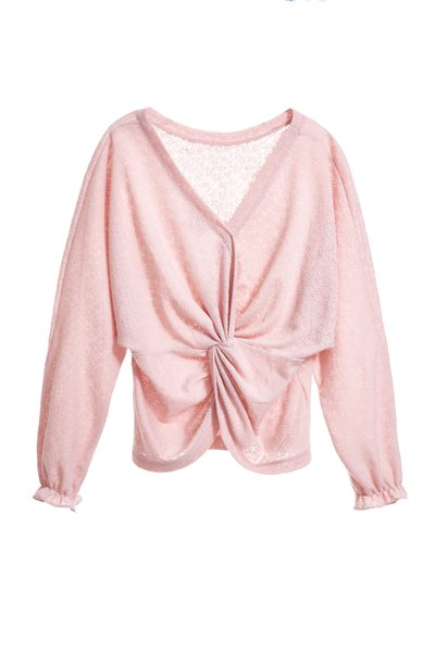 Elegant classic long-sleeved top