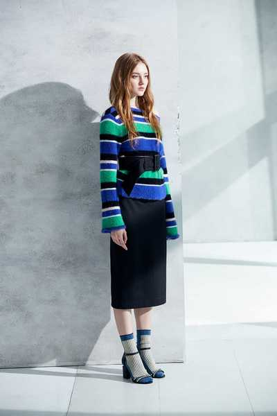 soft striped knit sweater