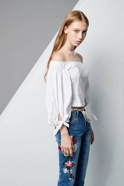 Elegant off-shoulder top