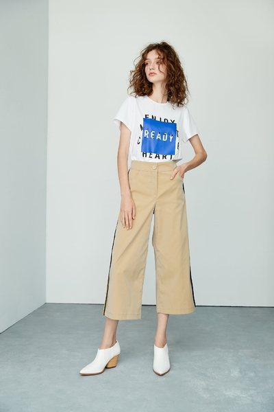 Alphabet cotton T-shirt