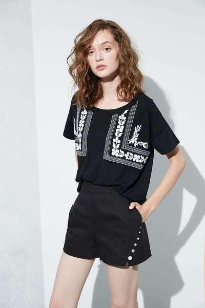 Folk style fashion tops