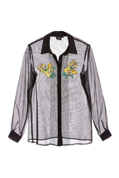 Lace embroidery popular design long-sleeved top