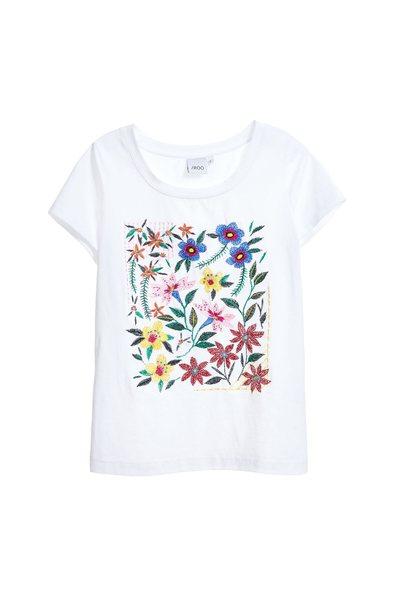 Minimalism embroidered cotton T-shirt