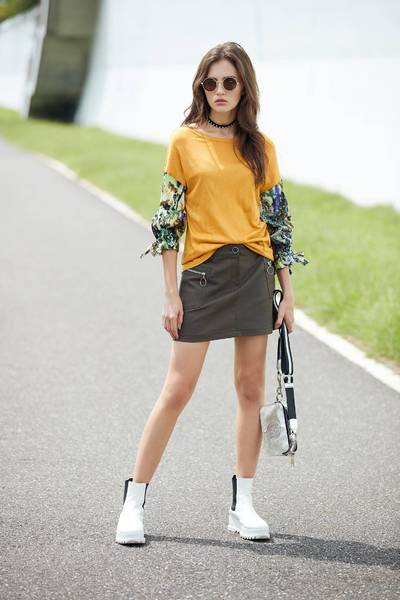 A Line Short Mini Skirts with Pockets
