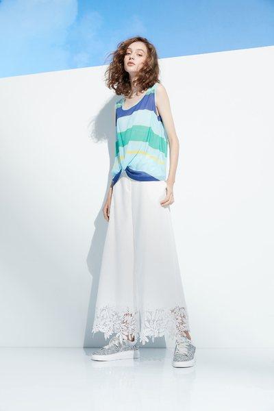 Lace stitching popular culottes