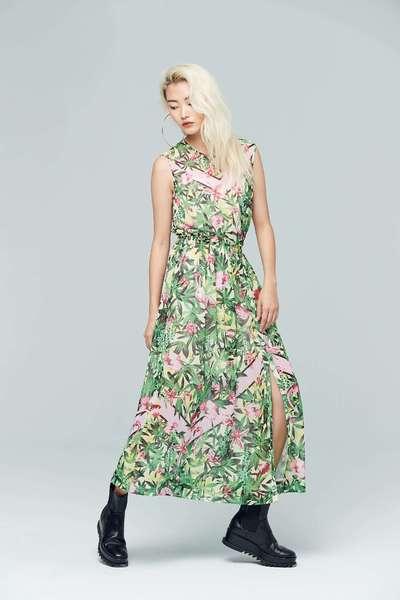 Evergreen design dress