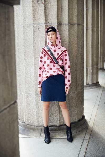 Polka dots long sleeved hoodie