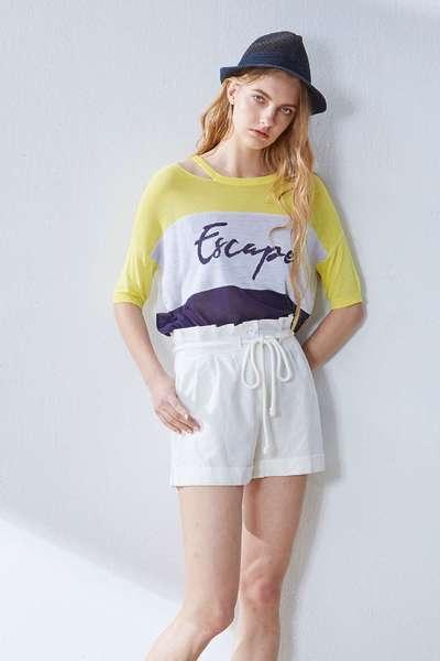 Contrast popular knit top