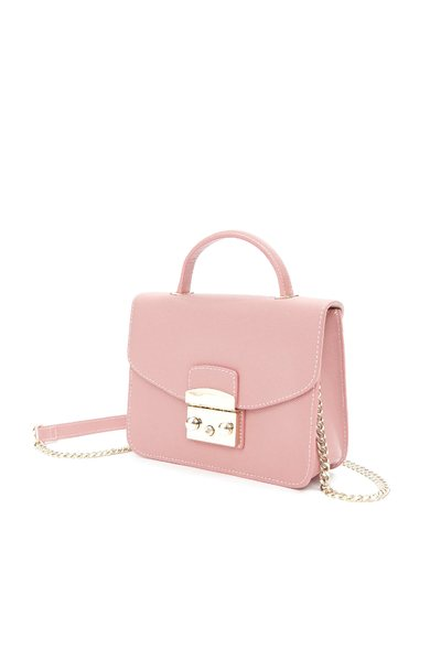 Elegant metal chain shoulder bag
