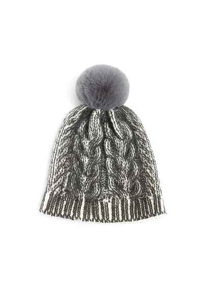 Styling bobble hat