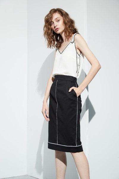 Stiching belt design skirt