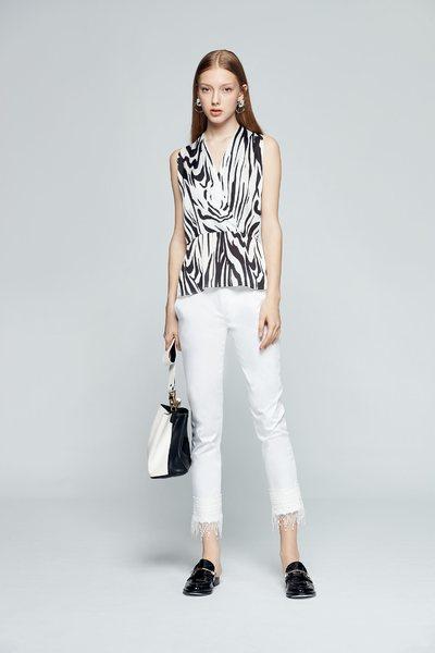 Zebra pattern vest